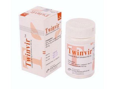 ledipasvir and sofosbuvir twinvir tablet